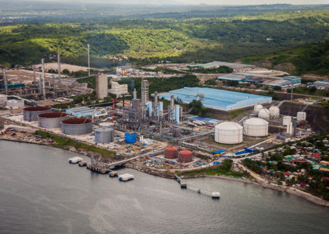Onshore gas plant