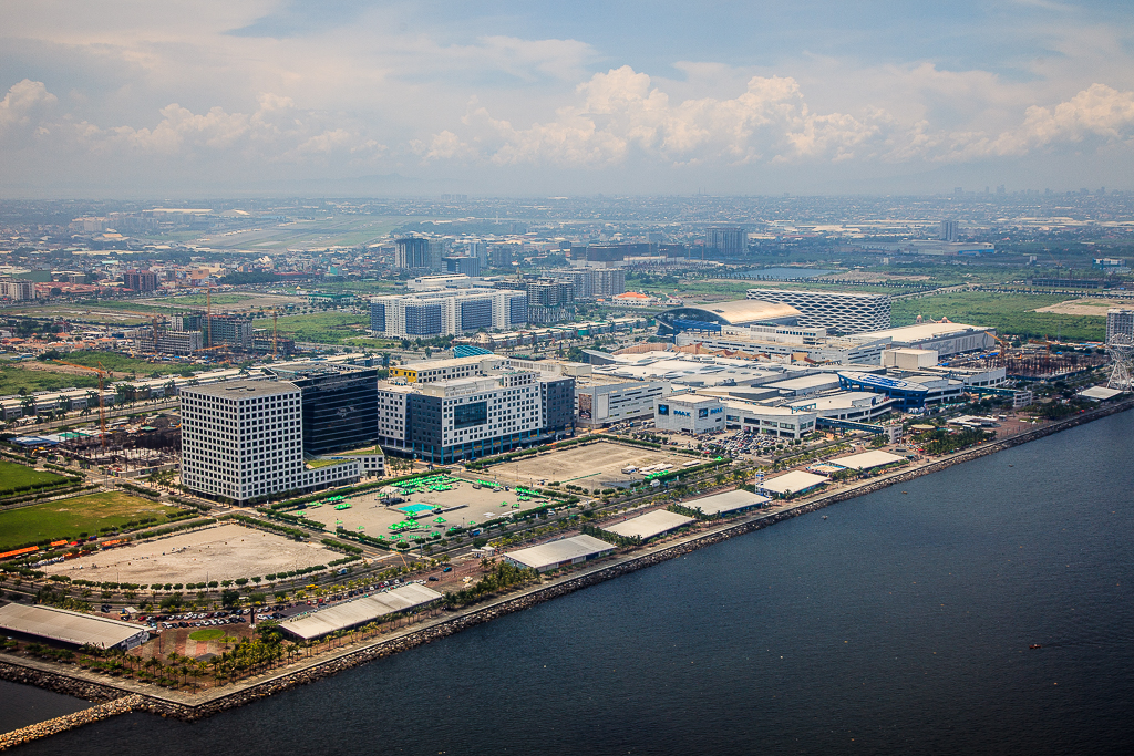 Aerial view of Mall of Asia Complex