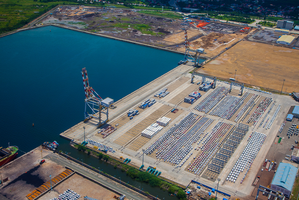Aerial view of Port of Batangas