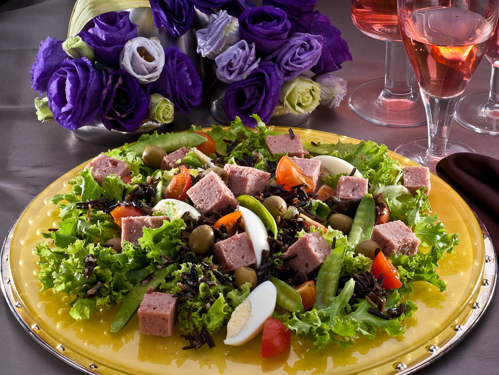 salad with luncheon meat