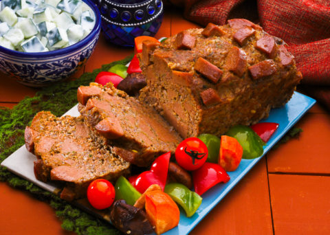 Meat loaf recipe with vegetables